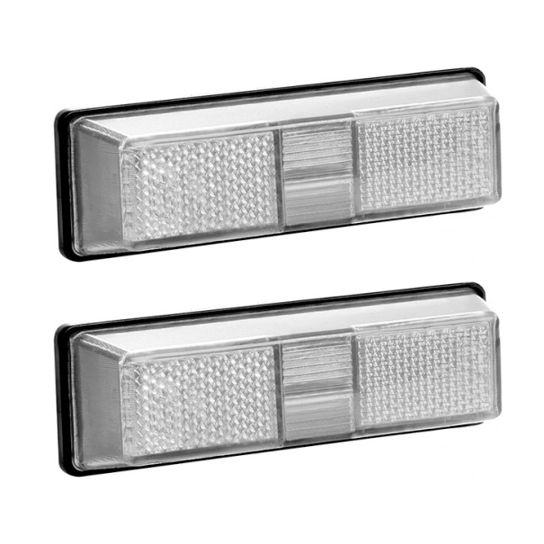 Lanterna lateral estribo Ford Cargo até 2012 (cabine antiga) Cristal - Par